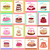 tasty celebratory cakes vector seamless pattern stock photo © robuart