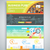 infographic business brochures banners set stock photo © robuart