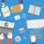 afaceri · birou · marketing · icoane · web · design · obiecte - imagine de stoc © robuart