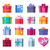 set of colorful gift boxes with ribbons and bows stock photo © robuart