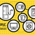 household appliance for home and kitchen icon set stock photo © robuart
