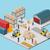 icono · 3D · proceso · almacén · interior - foto stock © robuart