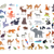 big set of world animal species cartoon vectors stock photo © robuart