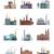 olaj · benzin · ipar · modern · terv · ikonok - stock fotó © robuart