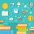 образование · онлайн · профессиональных · набор · иконки · дизайна - Сток-фото © robuart