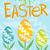 joyeuses · pâques · carte · de · vœux · ensemble · flyer · affiche · printemps - photo stock © robuart