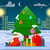 decorated christmas tree with presents outdoors stock photo © robuart