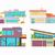 vector · gebouwen · ingesteld · ontwerp · huizen · geïsoleerd - stockfoto © robuart