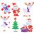 neşeli · Noel · posterler · ağaç · kardan · adam · ayarlamak - stok fotoğraf © robuart
