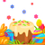 easter festive flat vector concept with sweets stock photo © robuart