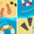 szett · minta · négy · különböző · színek · televízió - stock fotó © robuart
