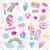 doce · princesa · ícones · colorido · conjunto · coração - foto stock © robuart
