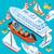 zeilen · schepen · collectie · silhouetten · geïsoleerde · objecten · witte - stockfoto © robuart