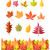 set of tree leaf icons autumn leaves isolated stock photo © robuart