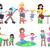 bebê · tapete · ilustração · feliz · sessão · menina - foto stock © robuart