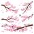 セット · 桜 · 日本 · 桜 · 現実的な · 支店 - ストックフォト © robuart