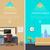 セット · 職場 · ベクトル · ウェブ · バナー · デザイン - ストックフォト © robuart
