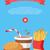 Hamburger · monochrome · Gliederung - stock foto © robuart