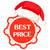 best price round tag in red sign and santa hat stock photo © robuart