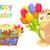 Pâques · bannière · chocolat · lapin · couleur · oeufs - photo stock © robuart