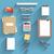 livro · óculos · governante · bússola · lápis · mentir - foto stock © robuart