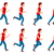 running man animation sprite set 8 frame loop stock photo © robuart