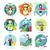 kódolás · szilárd · kör · ikonok · programozás · üzlet - stock fotó © robuart
