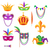 mardi gras colorful decorative elements on white stock photo © robuart