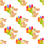 seamless pattern with chocolate bunny and bouquet stock photo © robuart