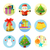 set of 9 christmas icons on white background stock photo © robuart
