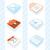 color · oficina · iconos · circular · aislado · blanco - foto stock © robuart