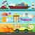 送料 · 配信 · 車 · 船 · 平面 · 輸送 - ストックフォト © robuart