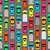 seamless pattern cars on parking endless texture stock photo © robuart