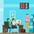 事務員 · 職場 · オフィス · 単純な · ベクトル · 実例 - ストックフォト © robuart