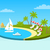 tropical beach on sunny ocean shore circle concept stock photo © robuart