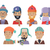 icons set of smiling men in hats and scarves stock photo © robuart