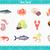 peixe · ícone · projeto · isolado · mar - foto stock © robuart