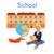 középiskola · épület · vektor · stílus · terv · nyilvános - stock fotó © robuart