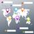 wereldkaart · vector · 3D · planeet · ingesteld · aarde - stockfoto © robuart