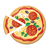pizza with tomatoes olives mushrooms and herbs stock photo © robuart