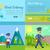 post service vector cartoon web banners set stock photo © robuart