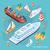 isometrische · ingesteld · schepen · zee · vervoer · 3D - stockfoto © robuart