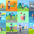 set of icon with postman characters and mail boxes stock photo © robuart