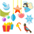 natal · retro · ícones · elementos · ilustrações · vetor - foto stock © robuart