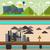 centrale · fumée · urbaine · cityscape · cartoon · style - photo stock © robuart
