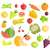 set of fruits vegetables vector illustration stock photo © robuart