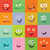 smiling monsters set happy germ smile characters stock photo © robuart