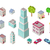 moderne · stad · vervoer · isometrische · 3D · communie - stockfoto © robuart