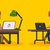 people work in office design flat stock photo © robuart