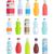 plástico · agua · botellas · iconos · simple · ilustración - foto stock © robuart